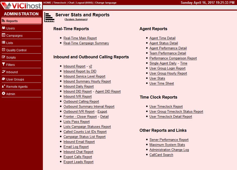 VICIhost Reports
