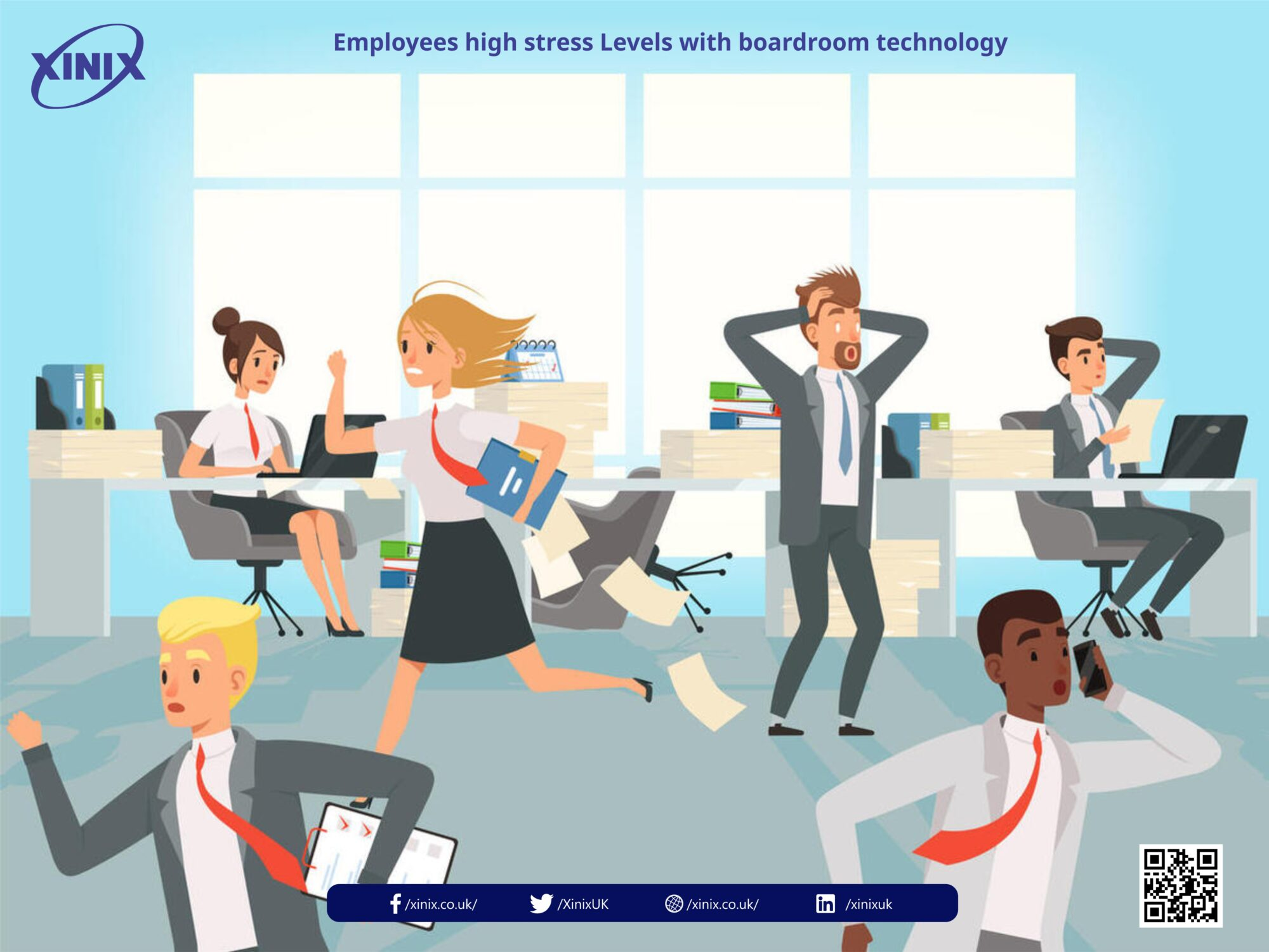 Employees high stress Levels with boardroom technology