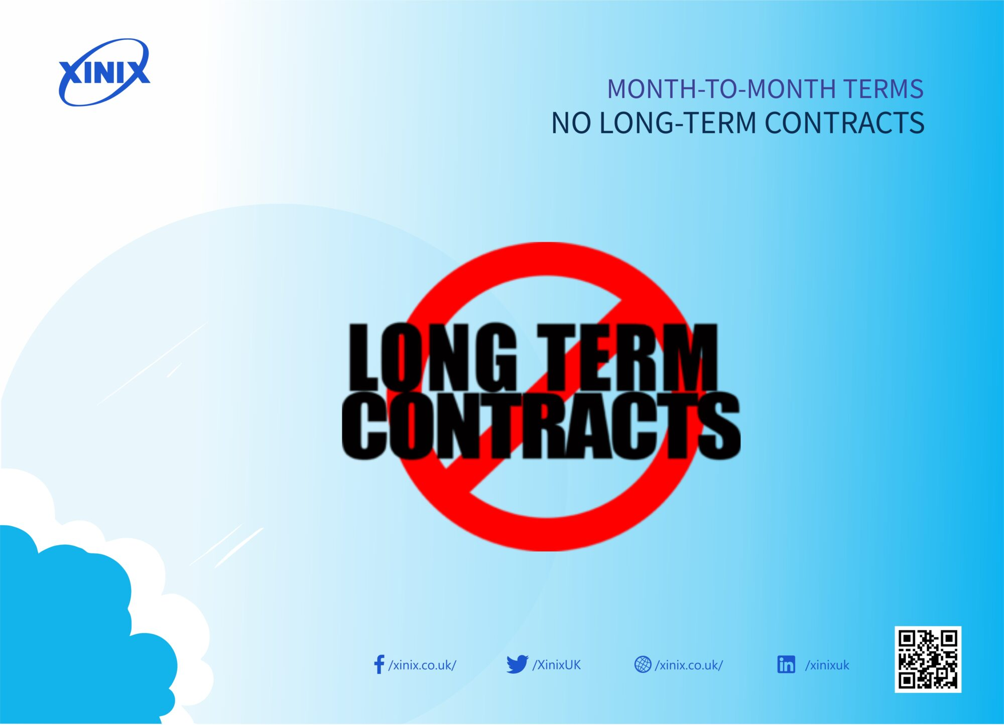 Month-to-Month Terms, No Long-Term Contracts