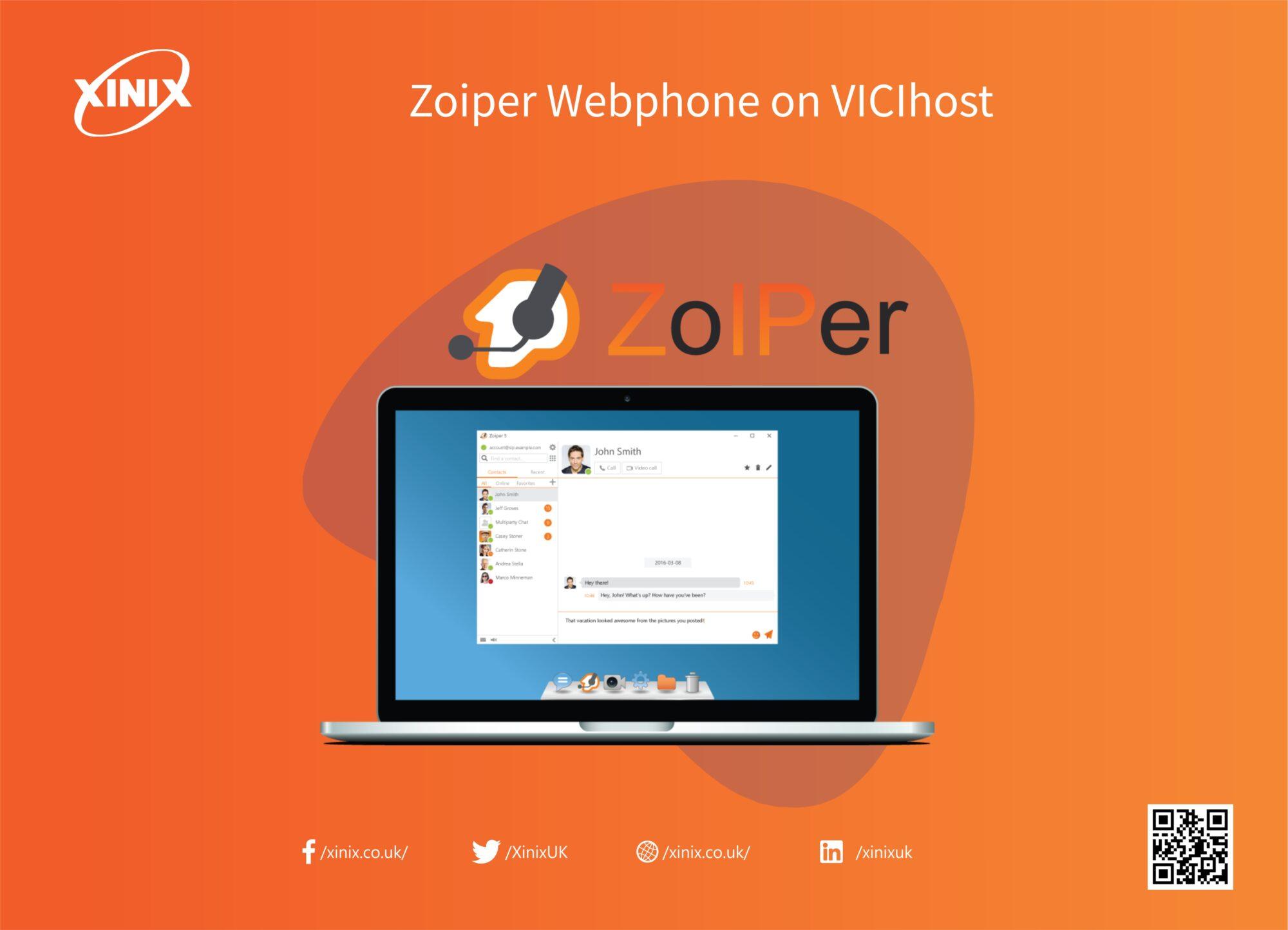 Zoiper Webphone on VICIhost