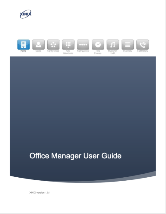 Office Manager - Xinix Switch Manual